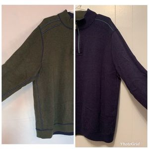 Tommy Bahama Reversible 1/4 Zip Sweater